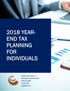 2018 Year end tax planning for individuals