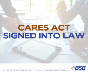 BSB - CARES Act Signed Into law