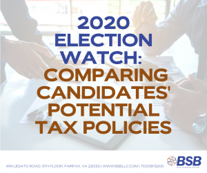 BSB 2020 Election Watch - Comparing Candidates Potential Tax Policies